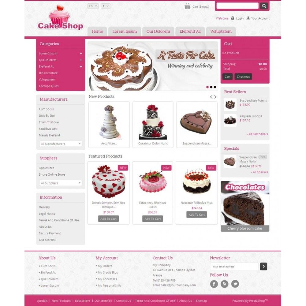 theme - Alimentos & Restaurantes - Cake Shop - 2