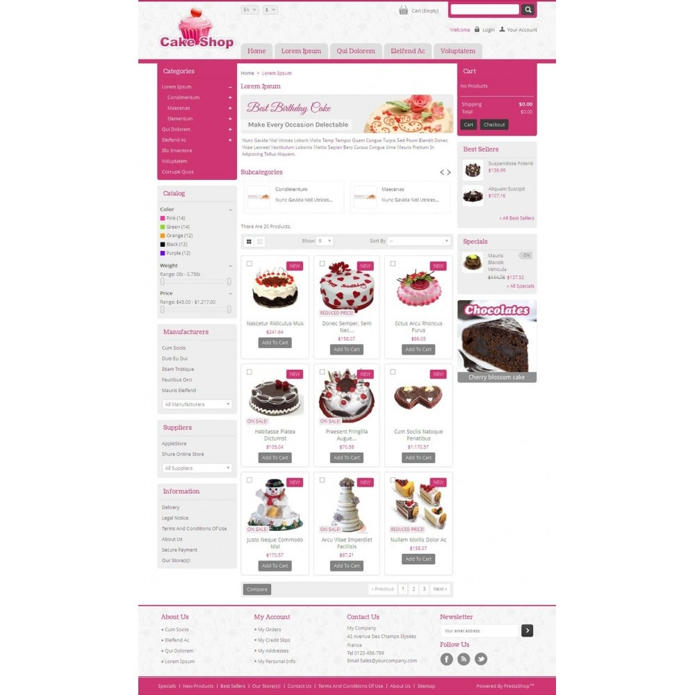 theme - Alimentos & Restaurantes - Cake Shop - 3