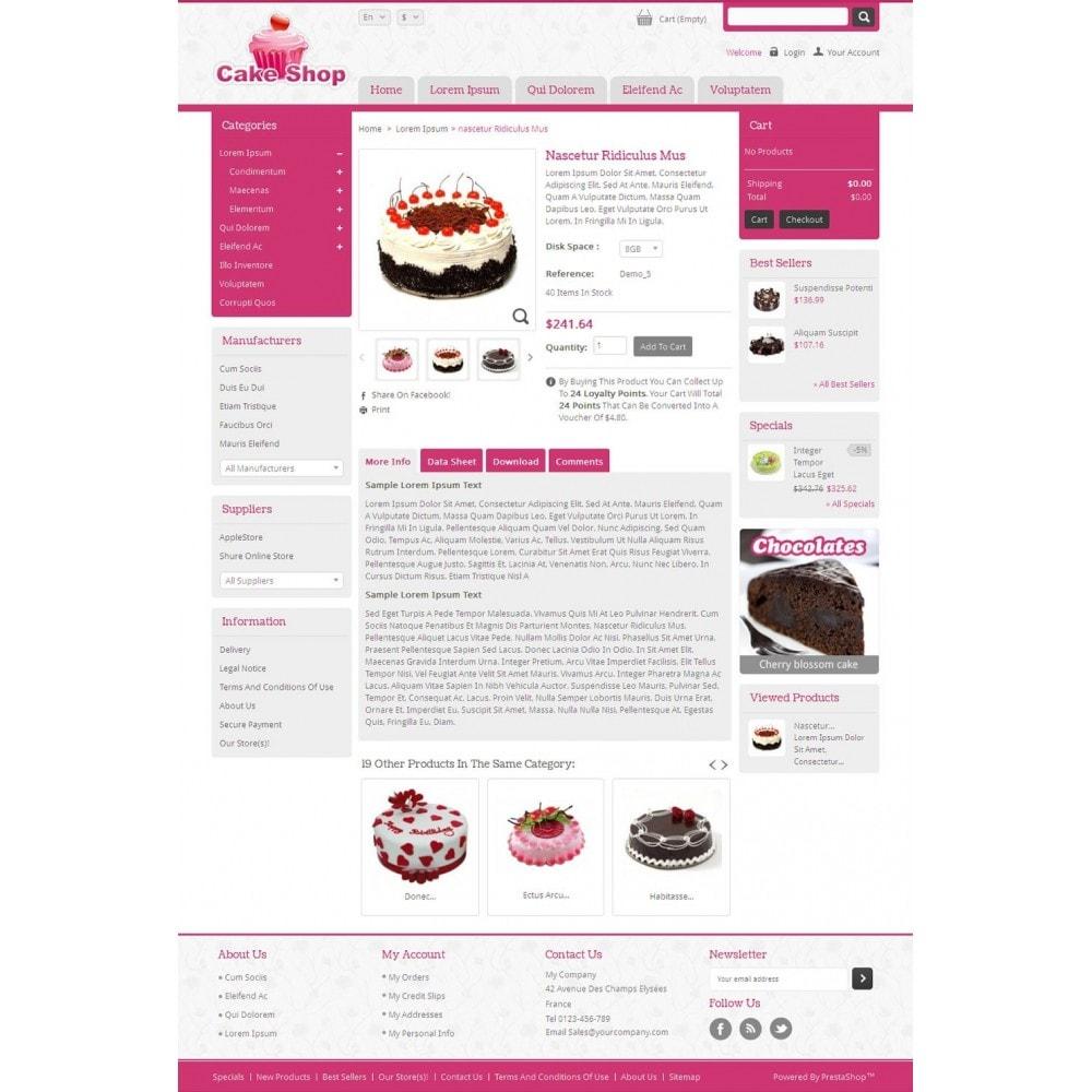 theme - Alimentos & Restaurantes - Cake Shop - 4