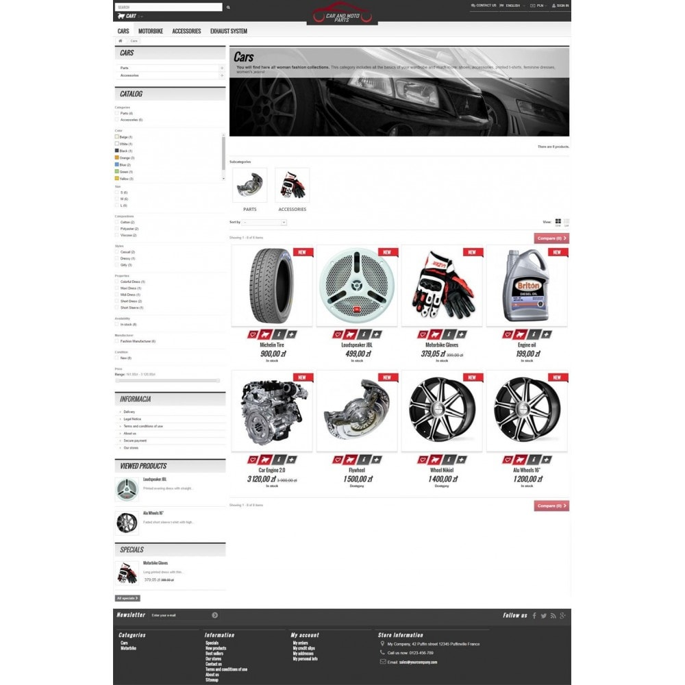 theme - Carros & Motos - Car and Moto Parts - 4