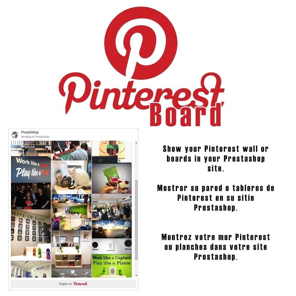 module - Widgets réseaux sociaux - Pinterest Board - 1