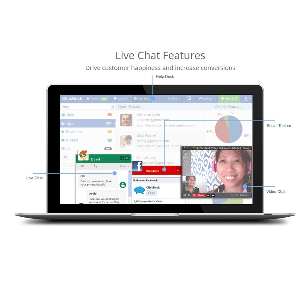 module - Suporte & Chat on-line - ClickDesk - LiveChat and Help Desk - 2