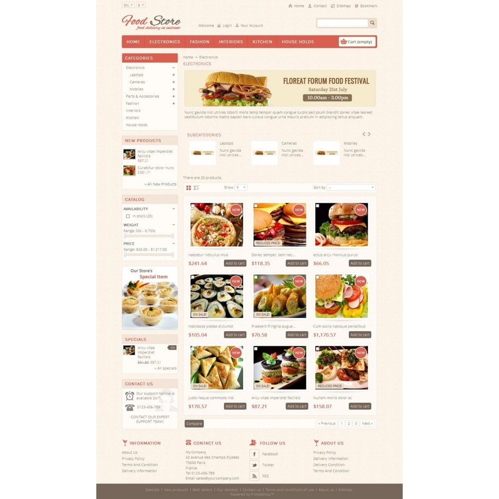 Food and Restaurant Store