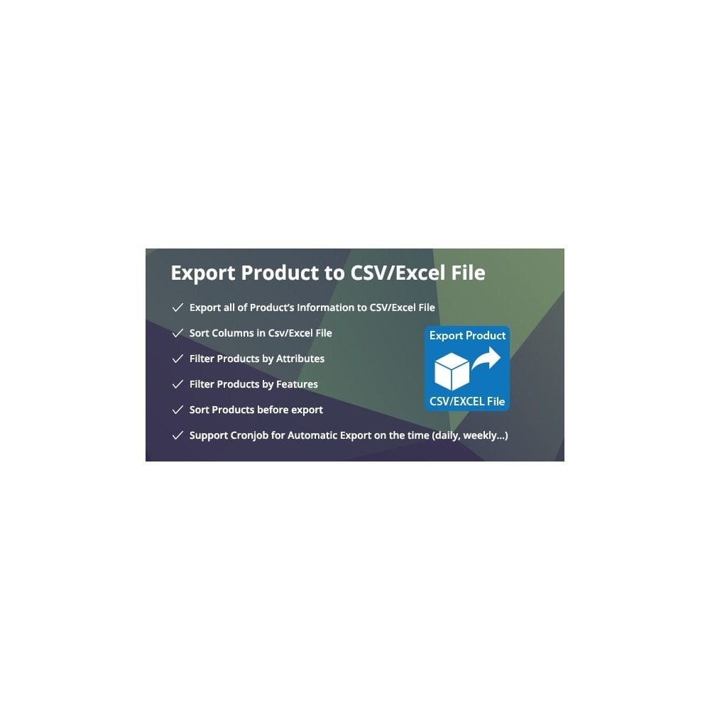 module - Data Import & Export - Complete for Filter & Export Product to CSV/Excel File - 1