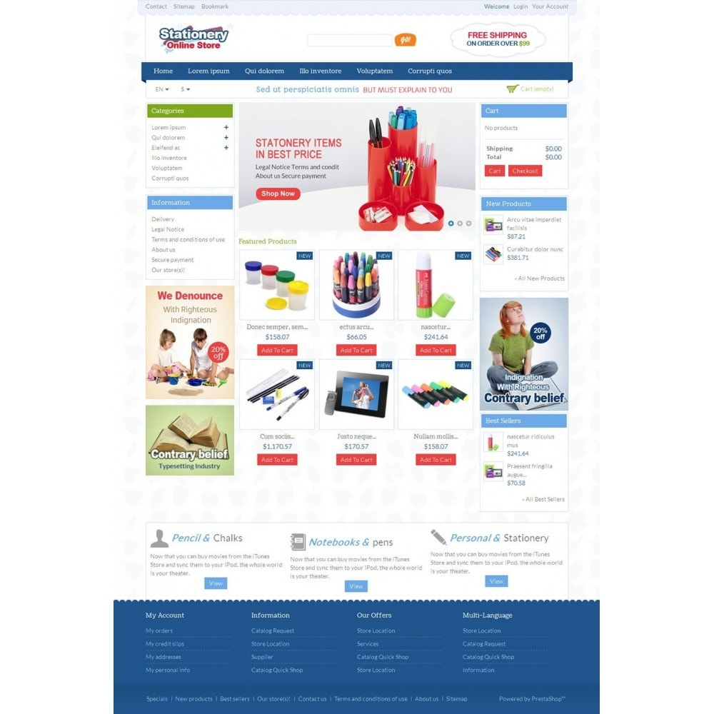 Stationery Online Store