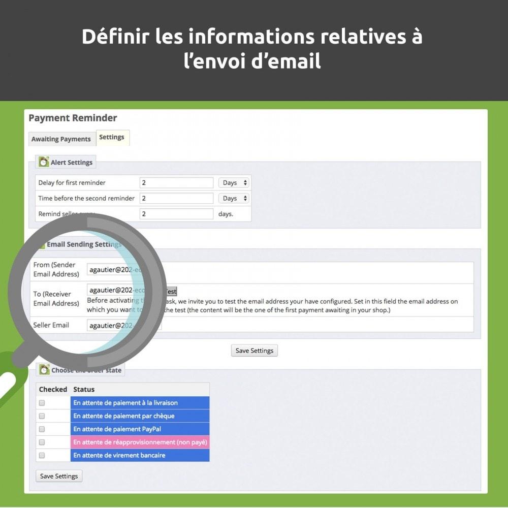 module - E-mails & Notifications - Relance de paiement / payment reminder - 5