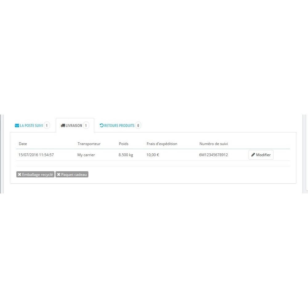 module - Suivi de livraison - Suivi de vos colis Colissimo, La Poste, Chronopost - 3