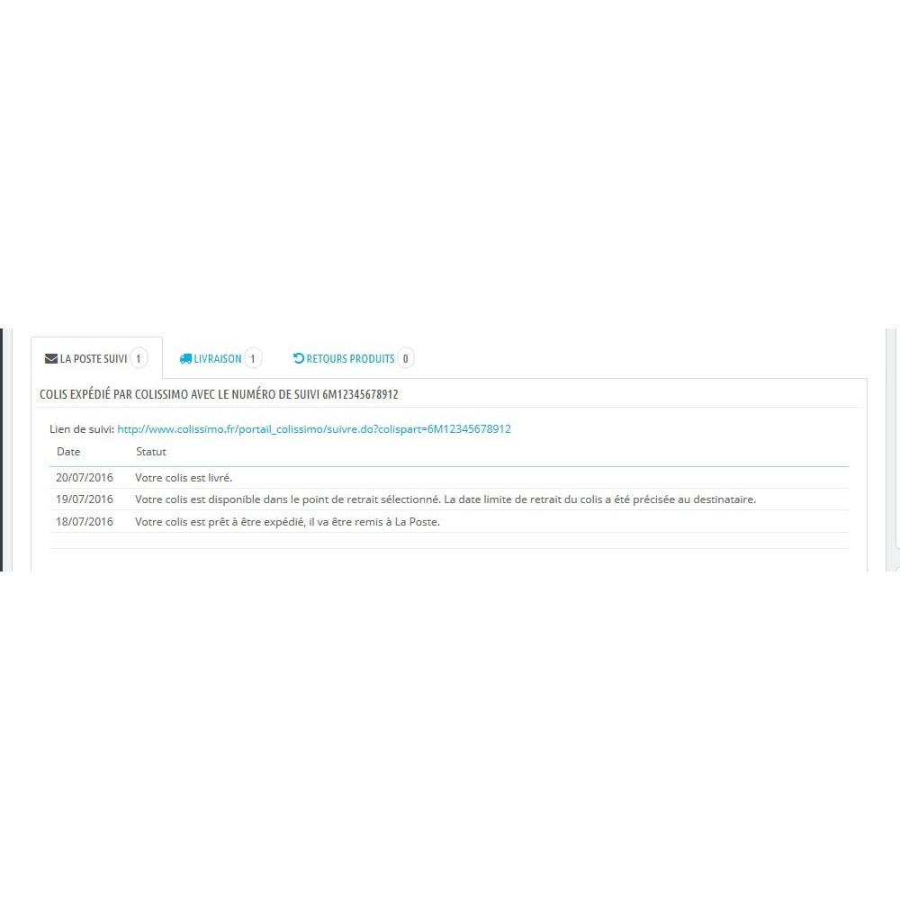 module - Suivi de livraison - Suivi de vos colis Colissimo, La Poste, Chronopost - 4
