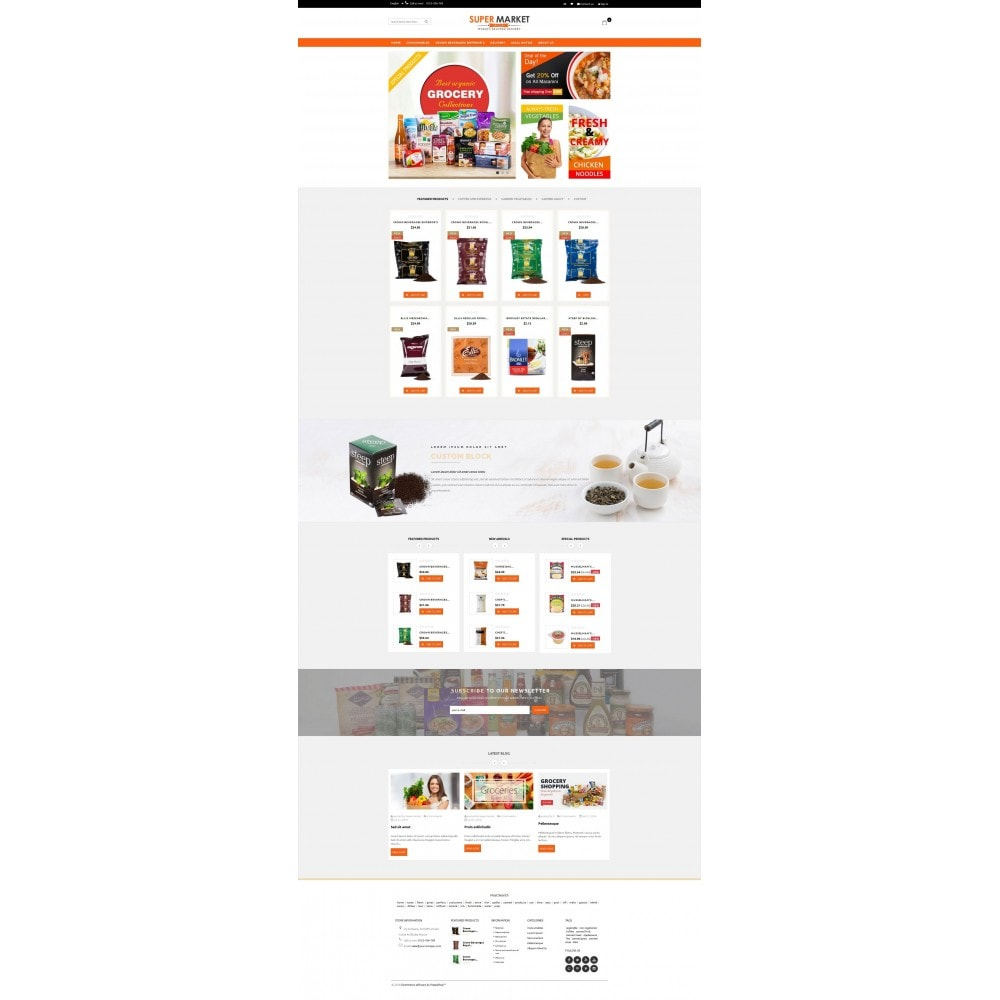 theme - Alimentation & Restauration - Supermarket Grocery Shop - 2