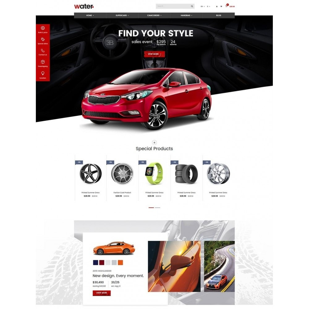 theme - Auto's & Motoren - Water Automotive & Cars - 2