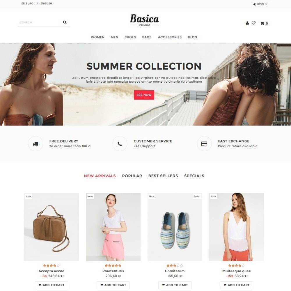 theme - Fashion & Shoes - Basica - 1