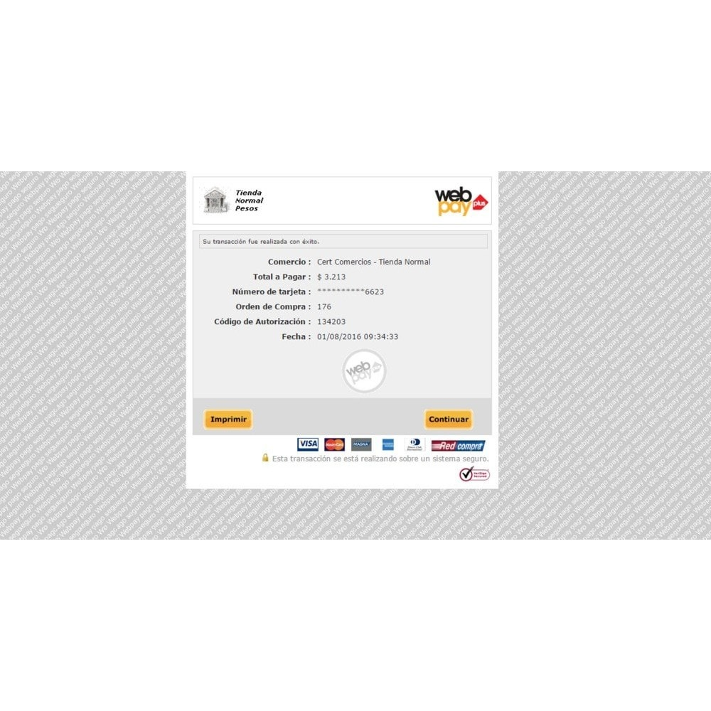 module - Creditcardbetaling of Walletbetaling - WebPay OneClick Transbank by Softwareagil - 6