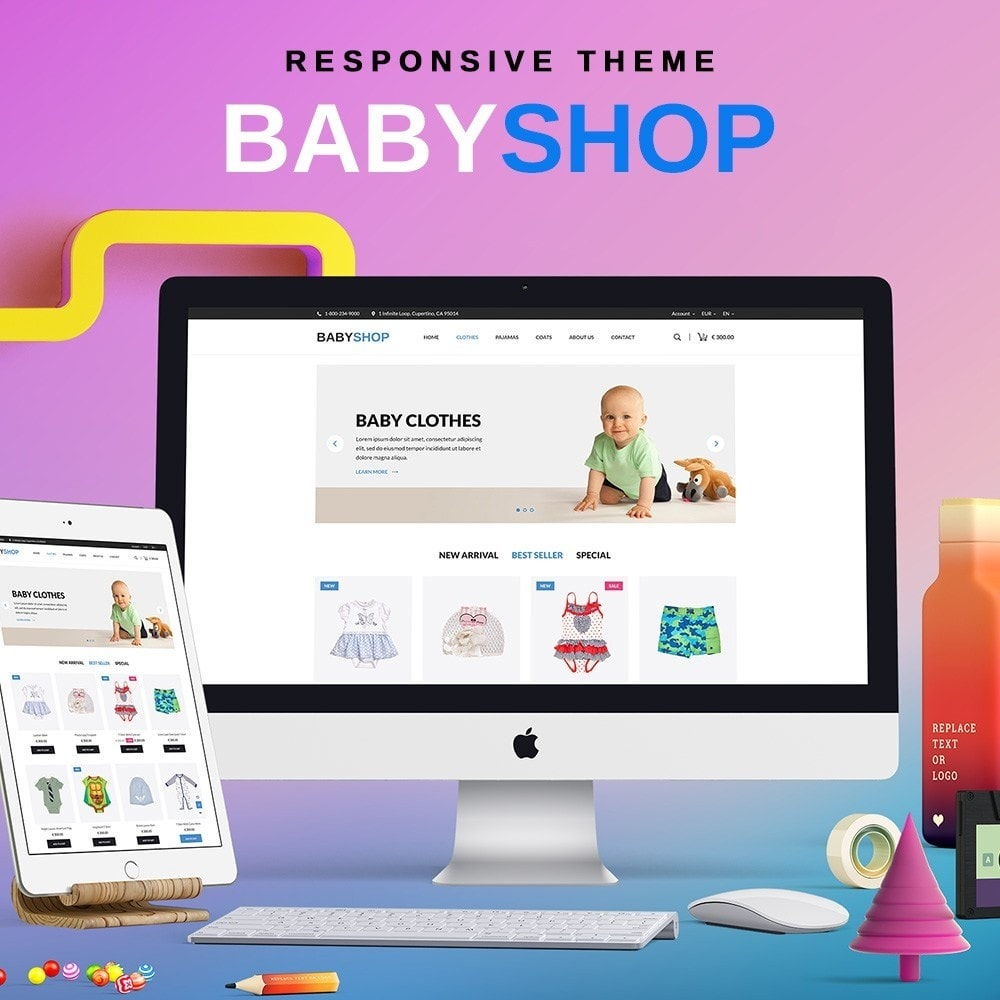 theme - Crianças & Brinquedos - Baby Shop - 1