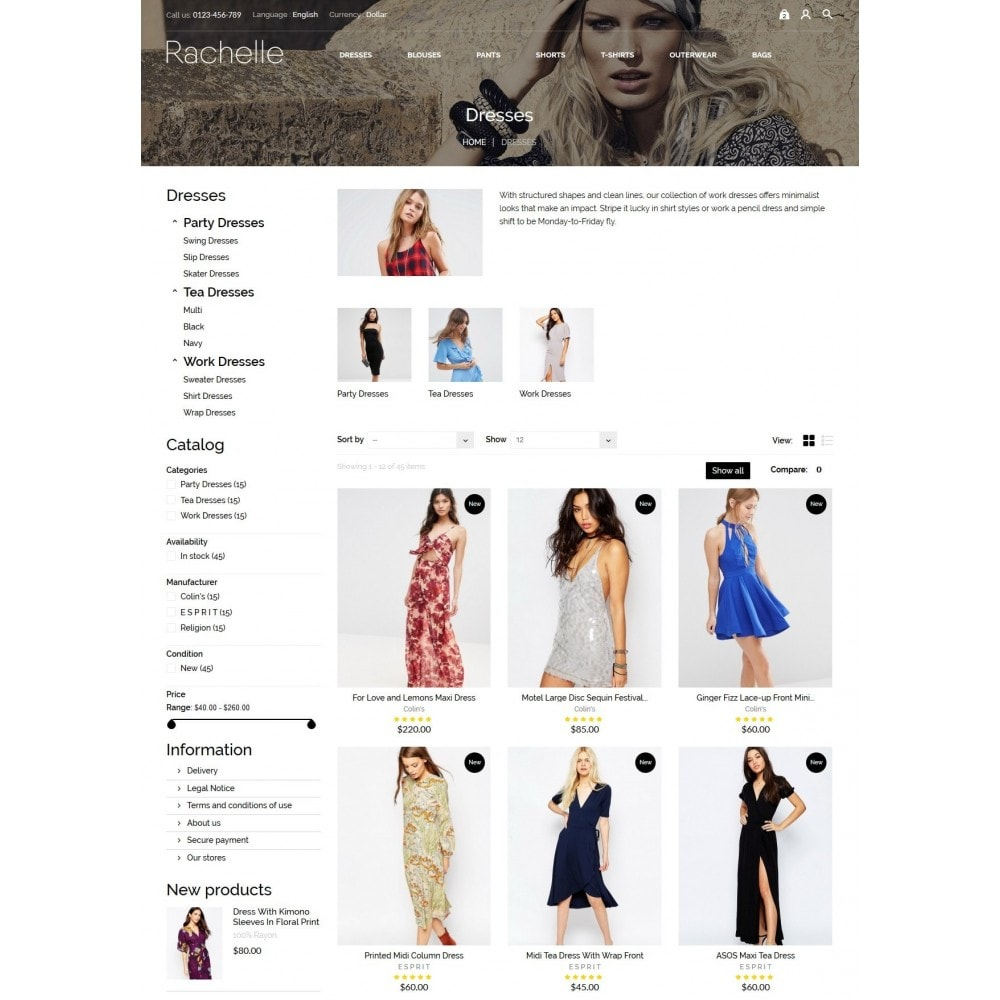 theme - Fashion & Shoes - Rachelle Fashion Store - 5