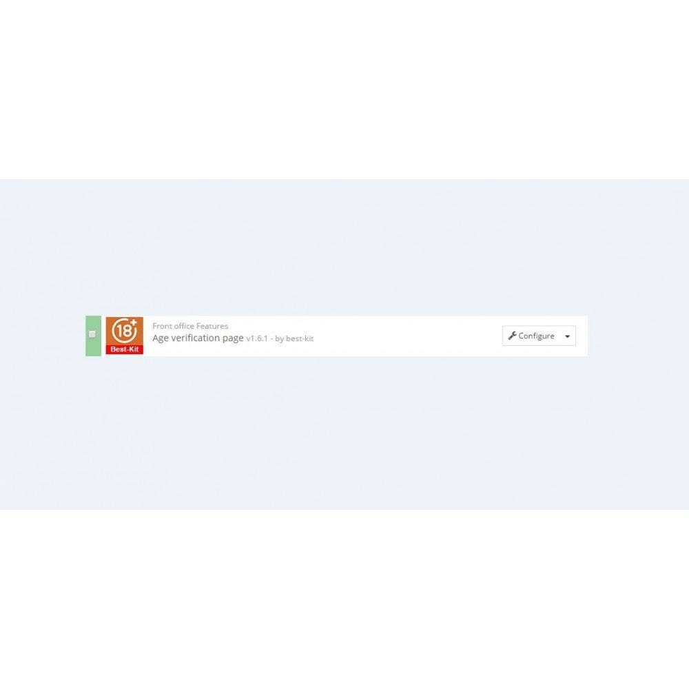 module - Seguridad y Accesos - Age verification page / Popup 18+ - 2