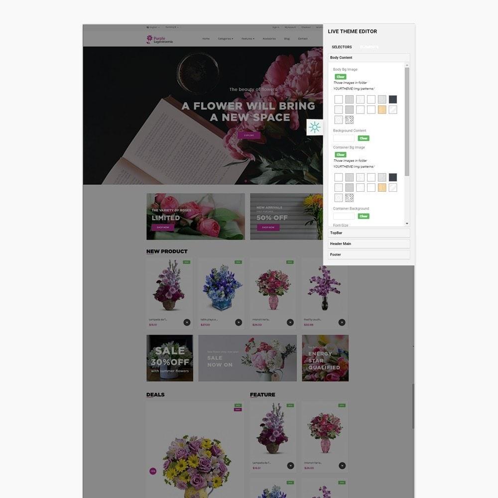 theme - Cadeaux, Fleurs et Fêtes - Ap Purple Lagerstroemia - 3
