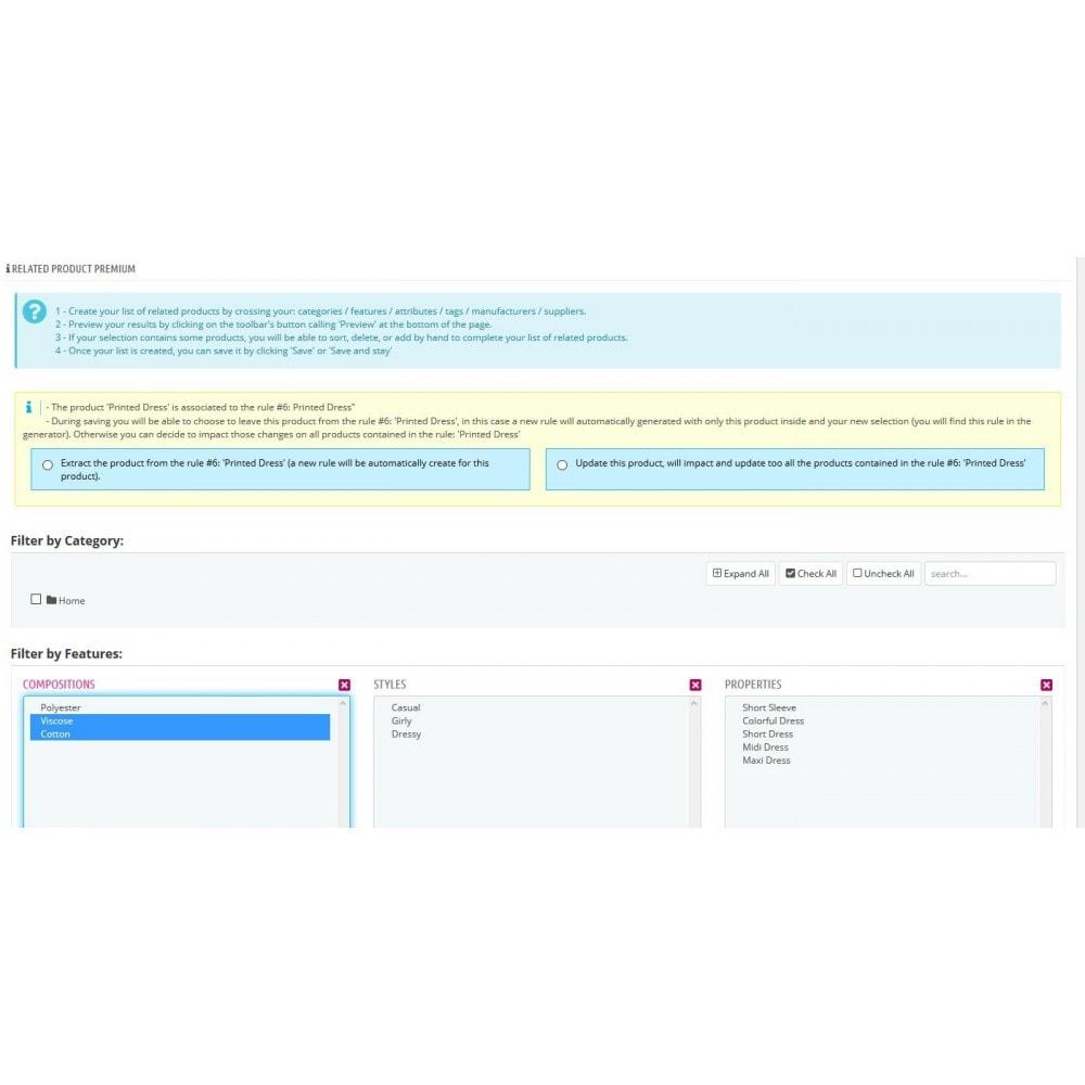 module - Ventes croisées & Packs de produits - Produits liés / Complémentaires Premium + BuyBox. - 2