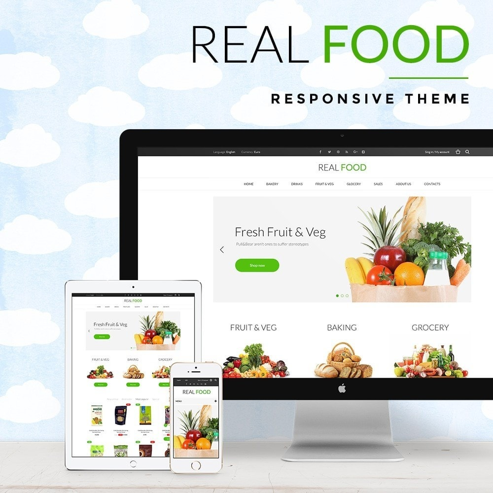 theme - Food & Restaurant - Real Food Store - 1
