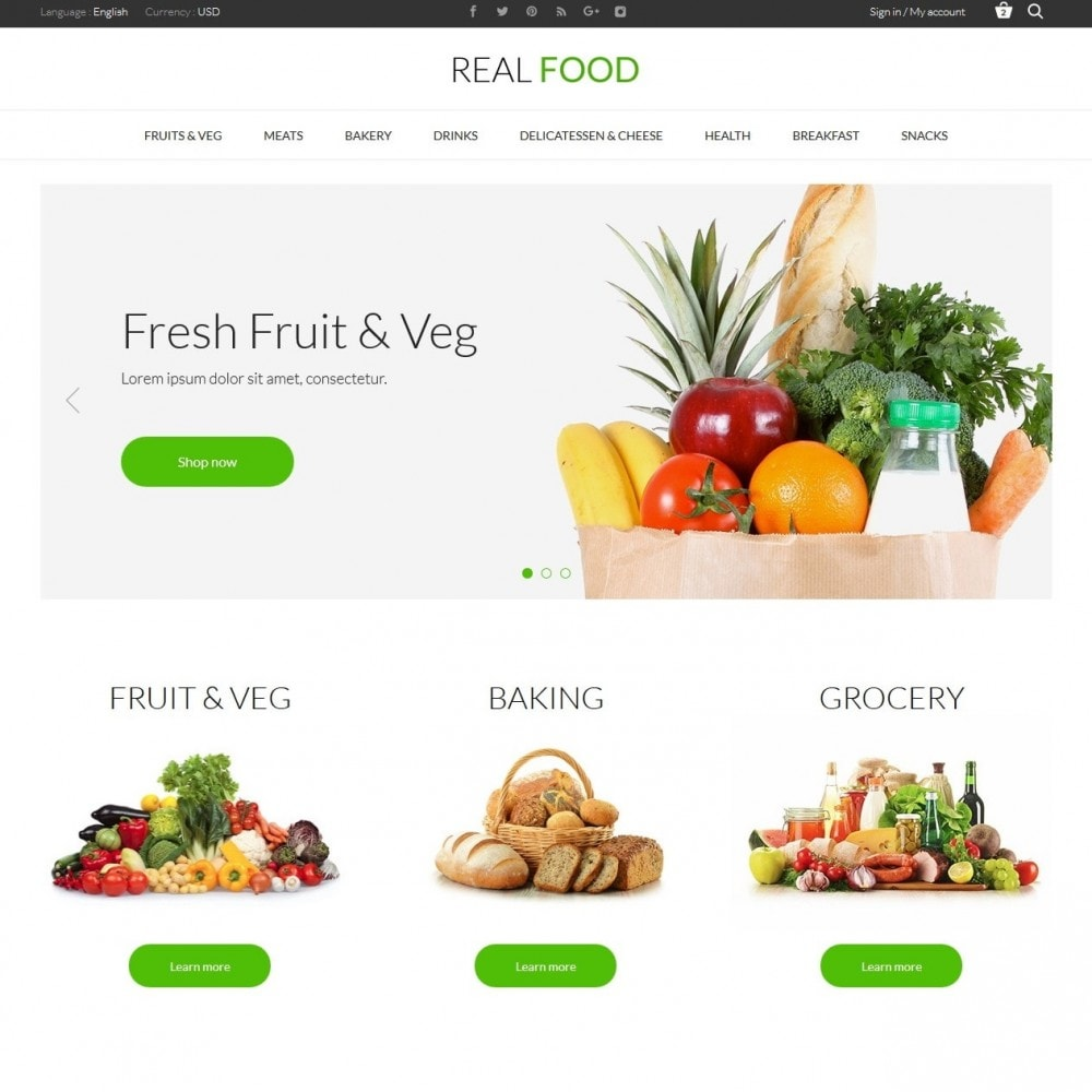 theme - Food & Restaurant - Real Food Store - 2