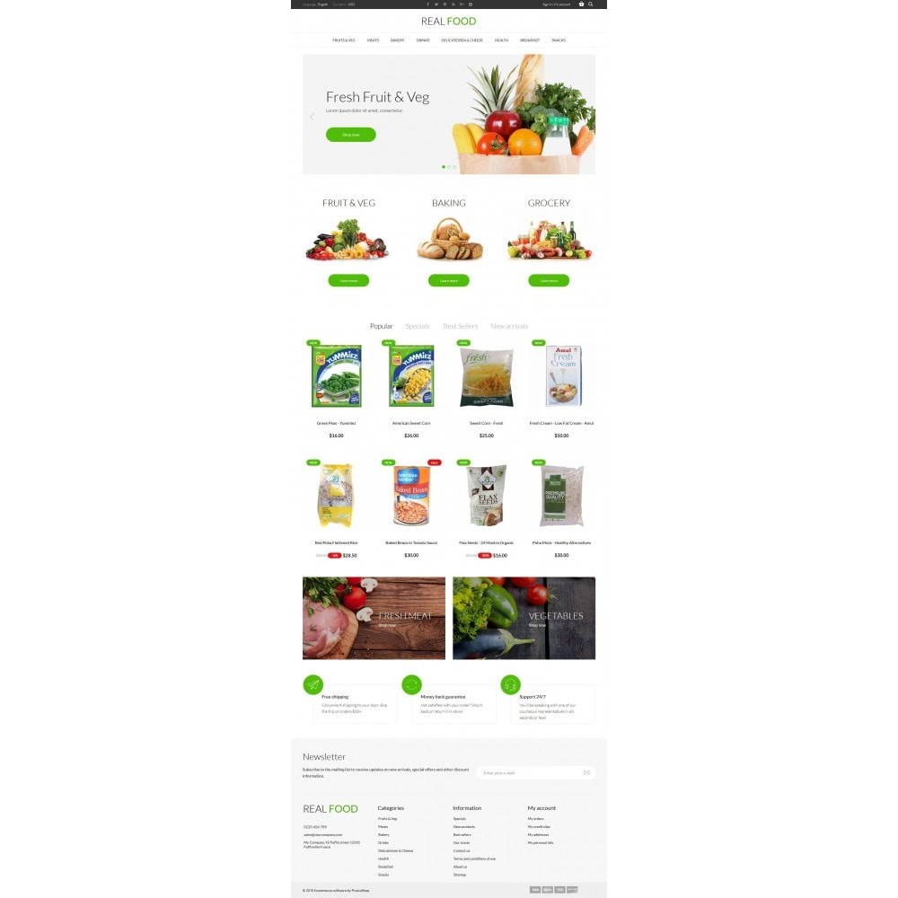 theme - Alimentation & Restauration - Real Food Store - 6
