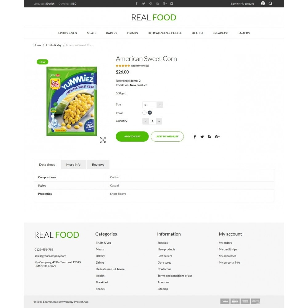 theme - Alimentation & Restauration - Real Food Store - 8