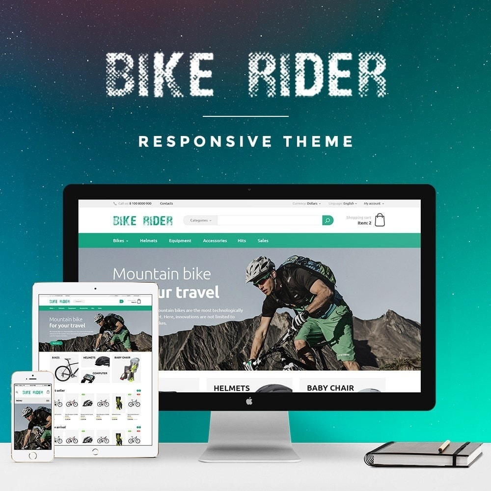 theme - Спорт и Путешествия - Bike Rider Store - 1