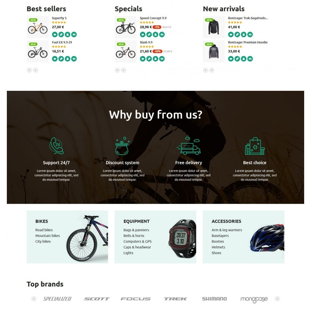 theme - Sports, Activities & Travel - Bike Rider Store - 3