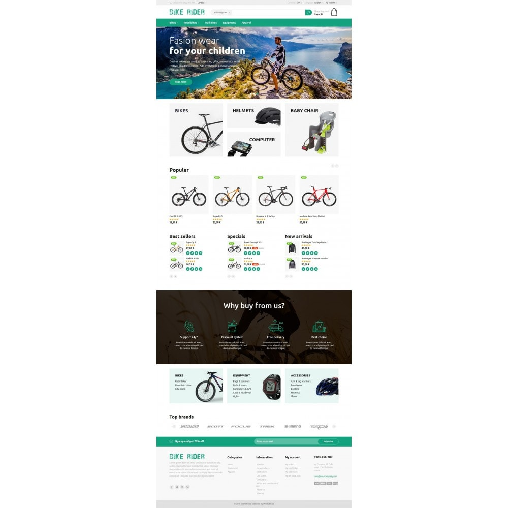 theme - Sports, Activities & Travel - Bike Rider Store - 4