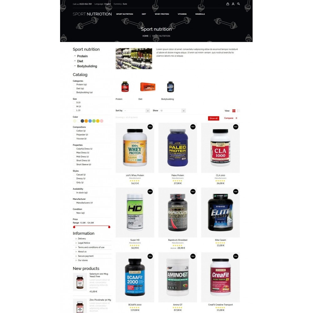 theme - Sport, Loisirs & Voyage - Sport Nutrition Store - 7