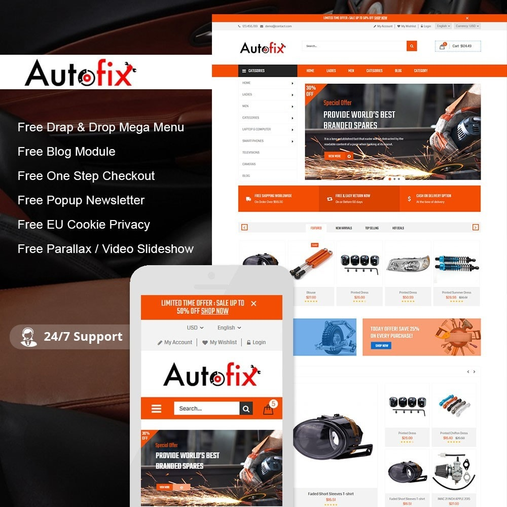 theme - Automotive & Cars - Autofix Car Store - 1