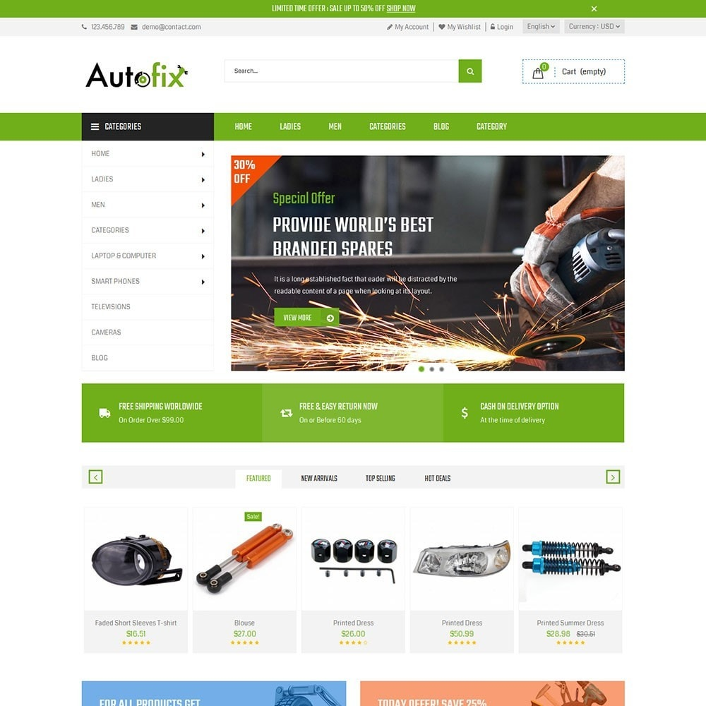 theme - Carros & Motos - Autofix Car Store - 5