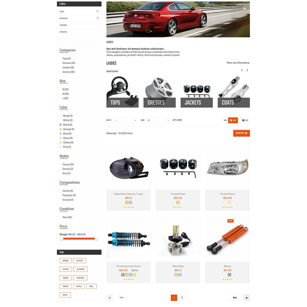 theme - Carros & Motos - Autofix Car Store - 6