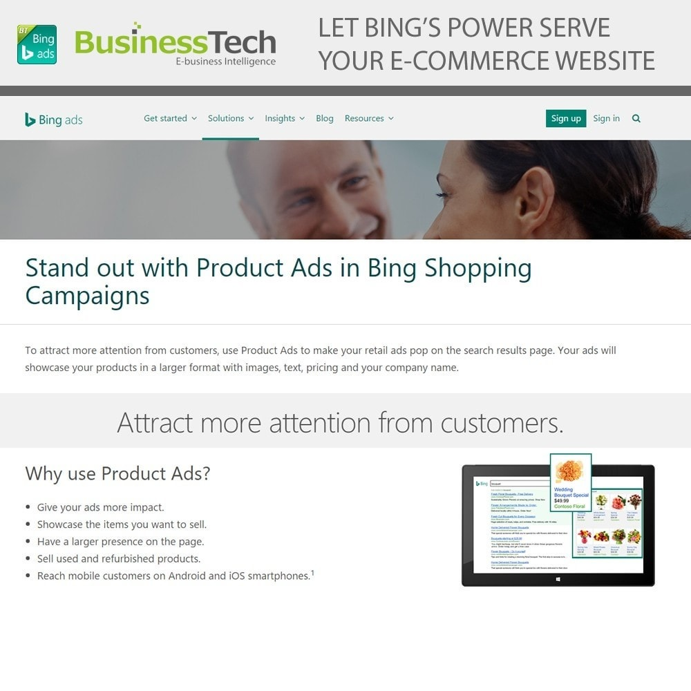 module - SEA SEM (Bezahlte Werbung) & Affiliate Plattformen - Bing Merchant Center - 2