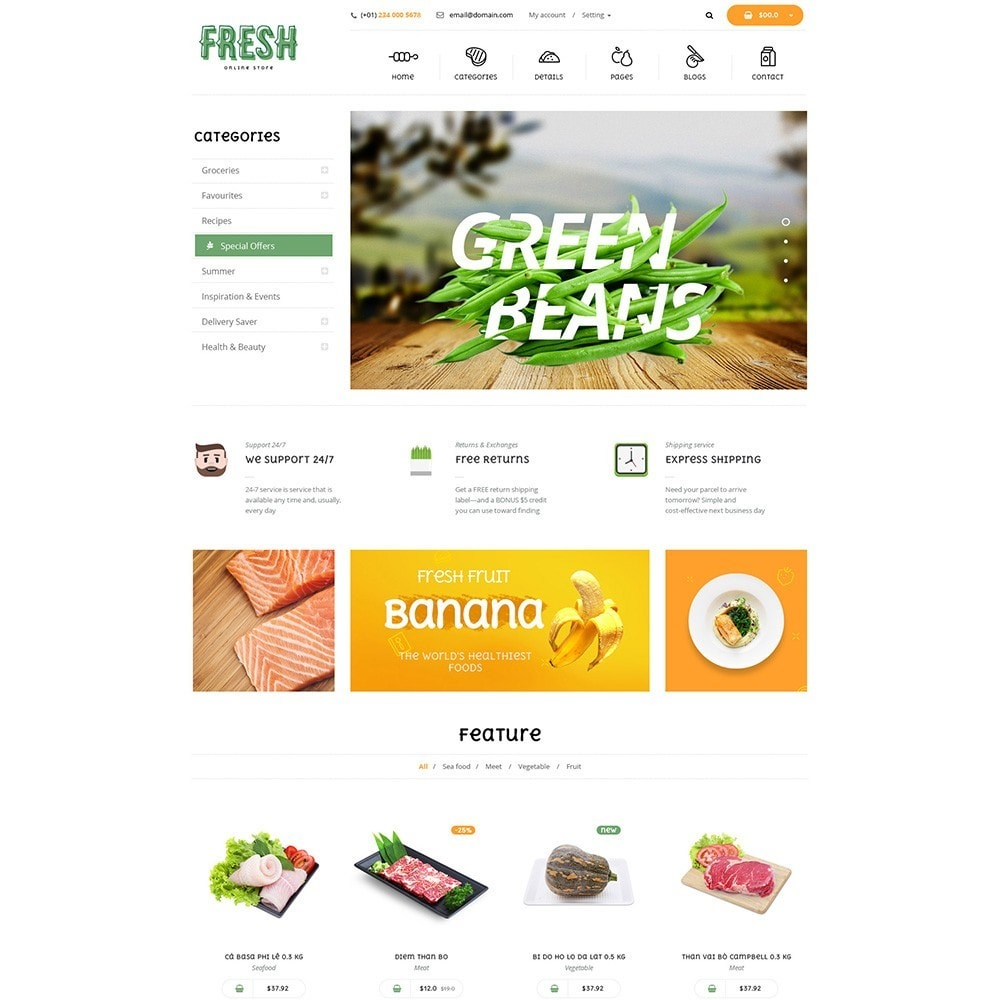 theme - Lebensmittel & Restaurants - Pts Fresh - 5