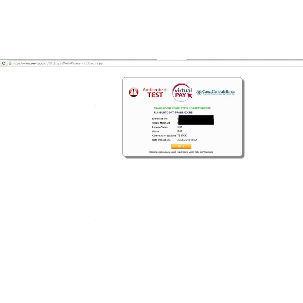 module - Payment by Card or Wallet - VIRTUALpay E-GIPSy payment gateway - 6