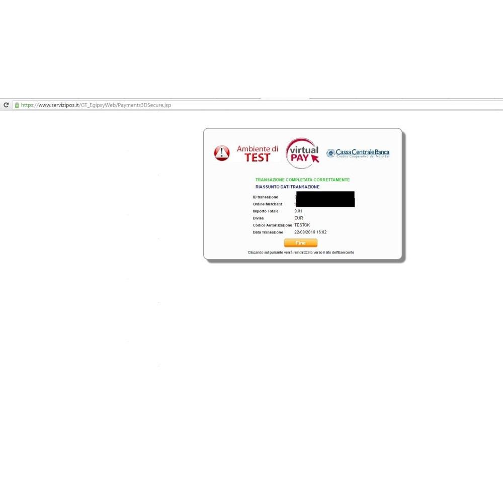 module - Pago con Tarjeta o Carteras digitales - VIRTUALpay E-GIPSy payment gateway - 6