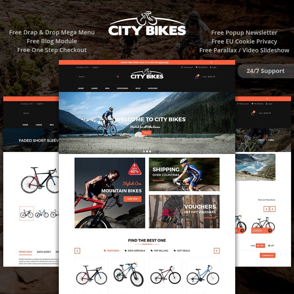 theme - Sports, Activities & Travel - Citybikes Sport Gear - 1