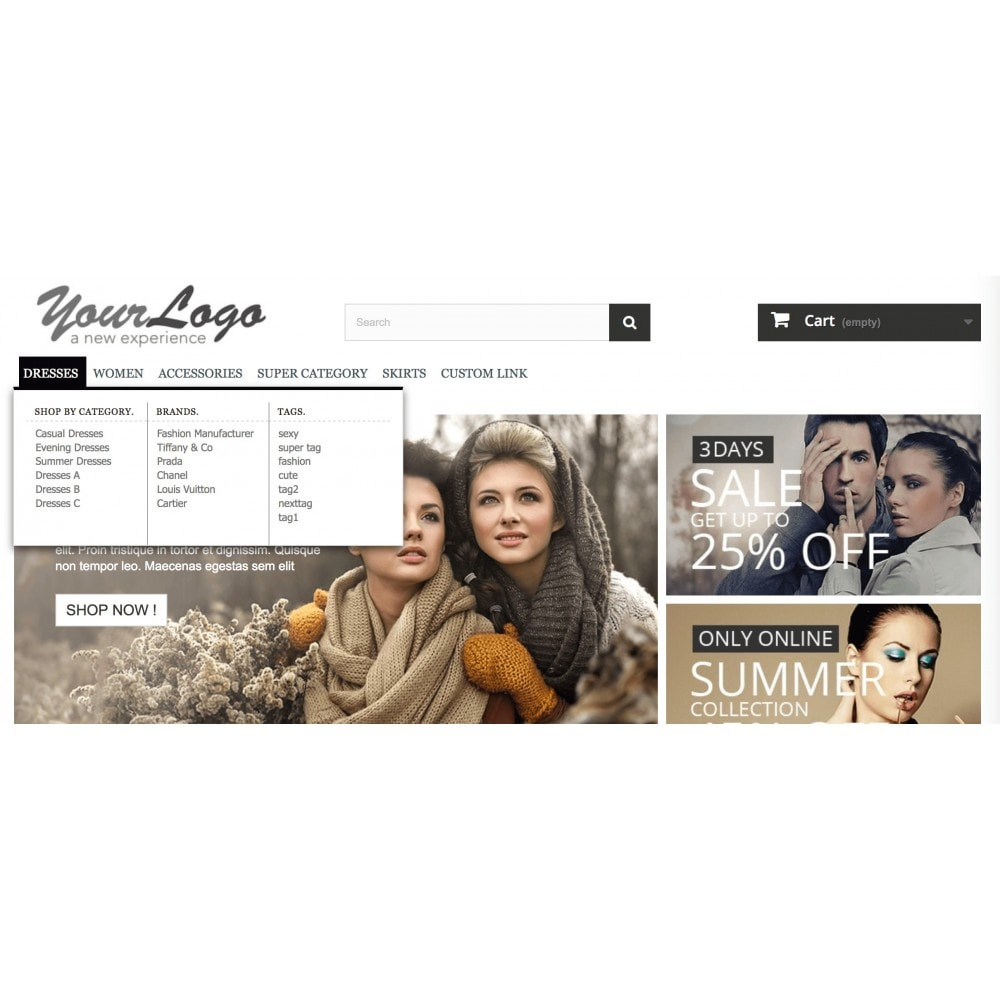 module - Menu - ShopBy Top navigation menu - 3