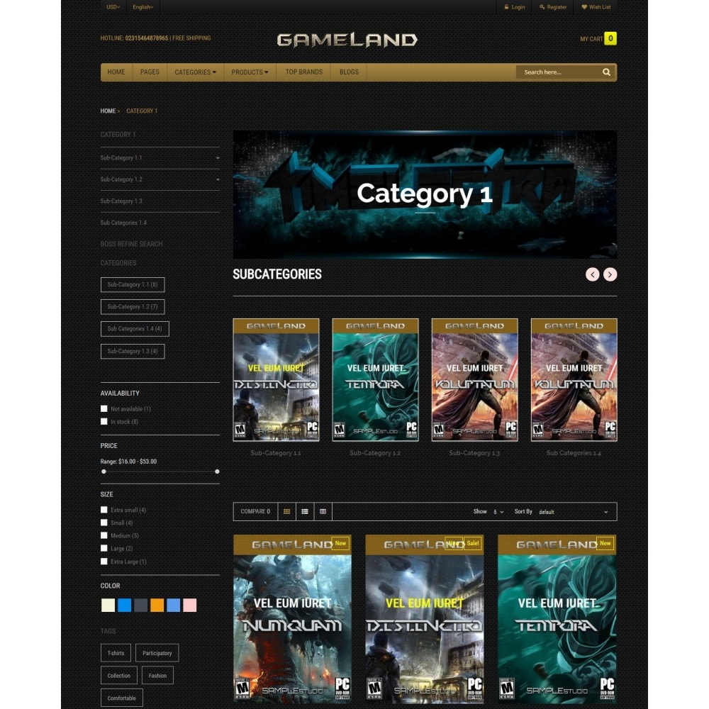 theme - Sports, Activities & Travel - GAMESTORE |  Responsive GameWorld - 3
