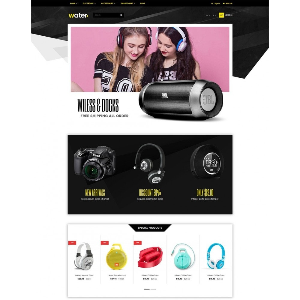 theme - Eletrônicos & High Tech - Water Electronic Store - 2