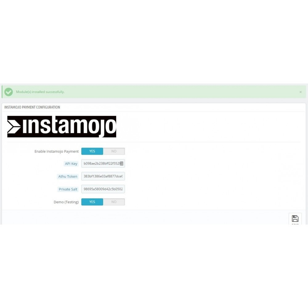 module - Payment by Card or Wallet - InstaMojo - 1