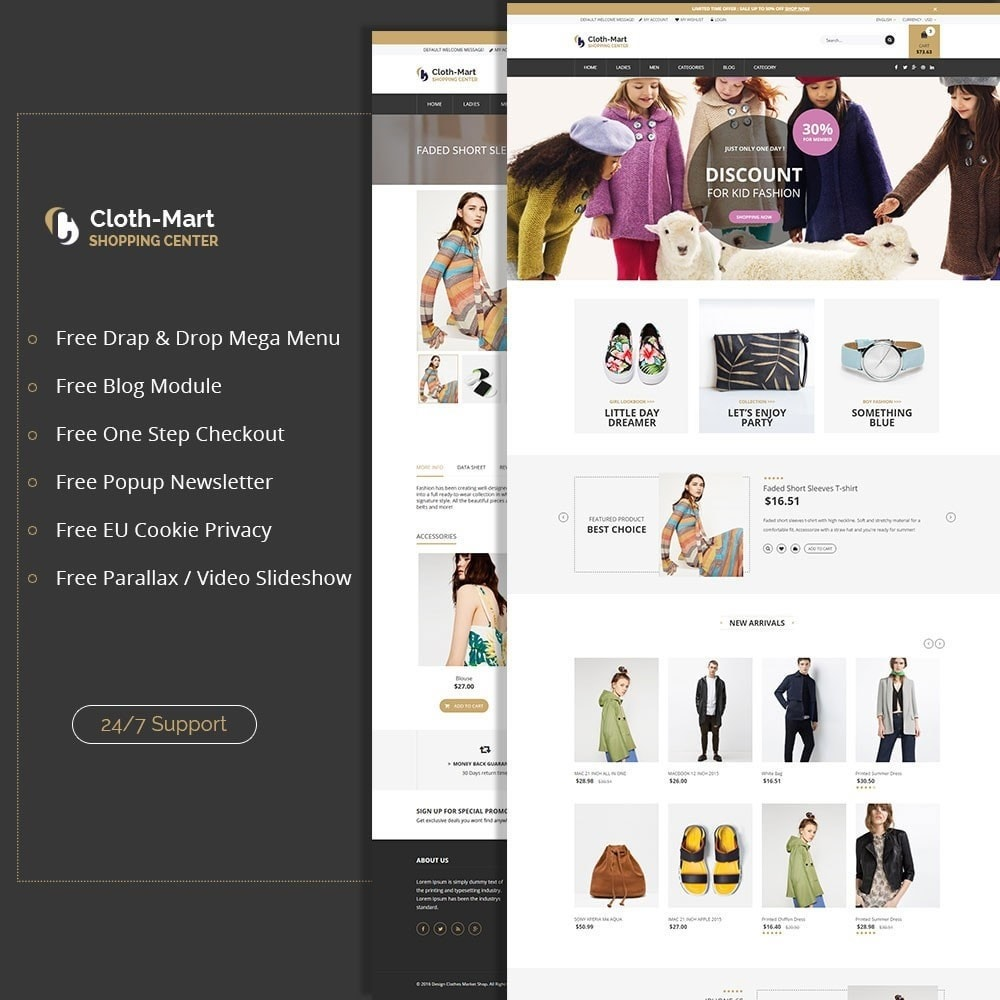 theme - Moda & Calzature - ClothMart Fashion Store - 1