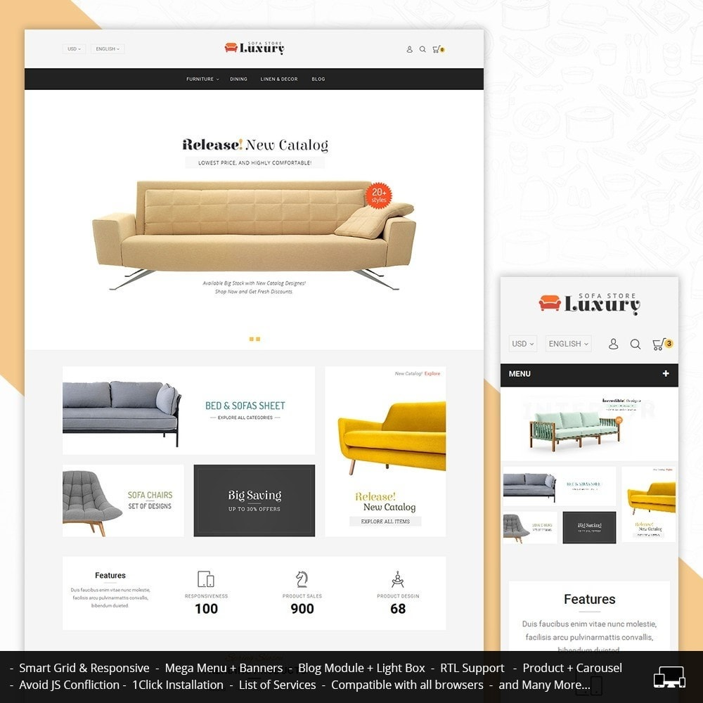 theme - Home & Garden - Luxury Sofa Store - 1