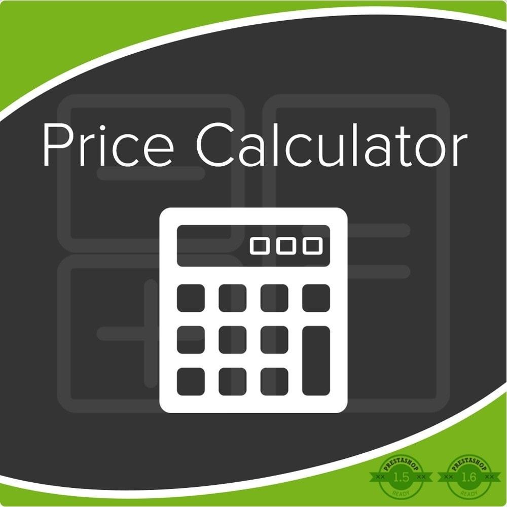 module - Dodatkowe informacje & Zakładka produktu - Price Calculator, Price Update - 1
