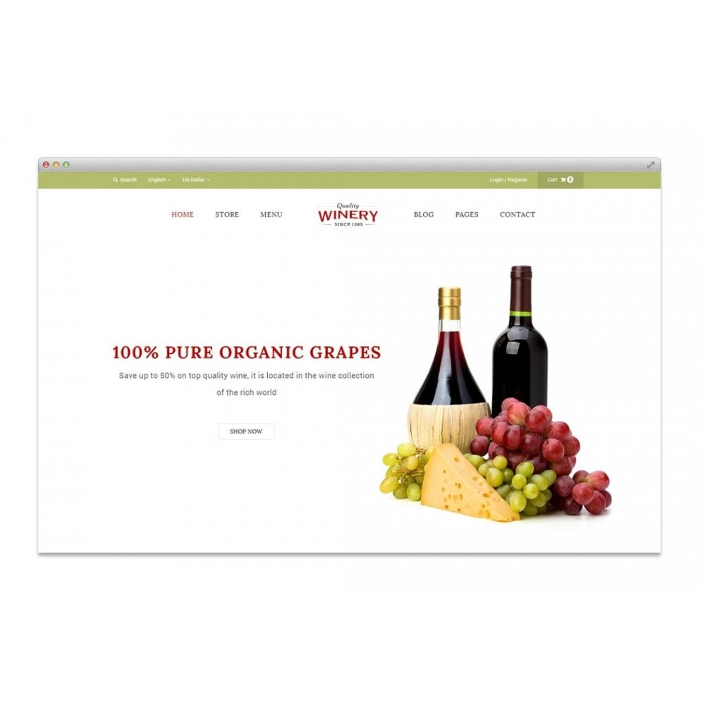 theme - Продовольствие и рестораны - JMS Winery - 3