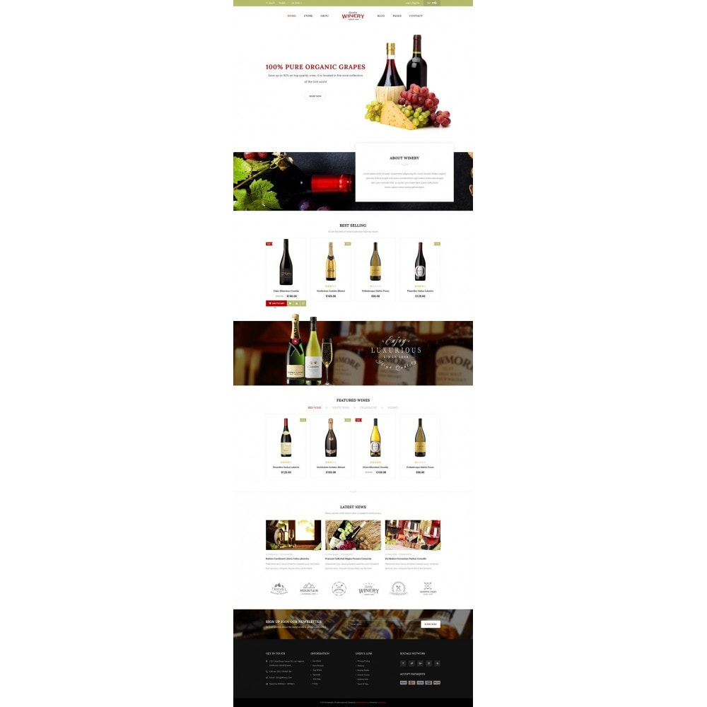 theme - Food & Restaurant - JMS Winery - 7