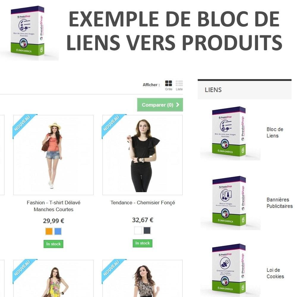 module - Blocs, Onglets & Bannières - Bloc de Liens avec Images - 3