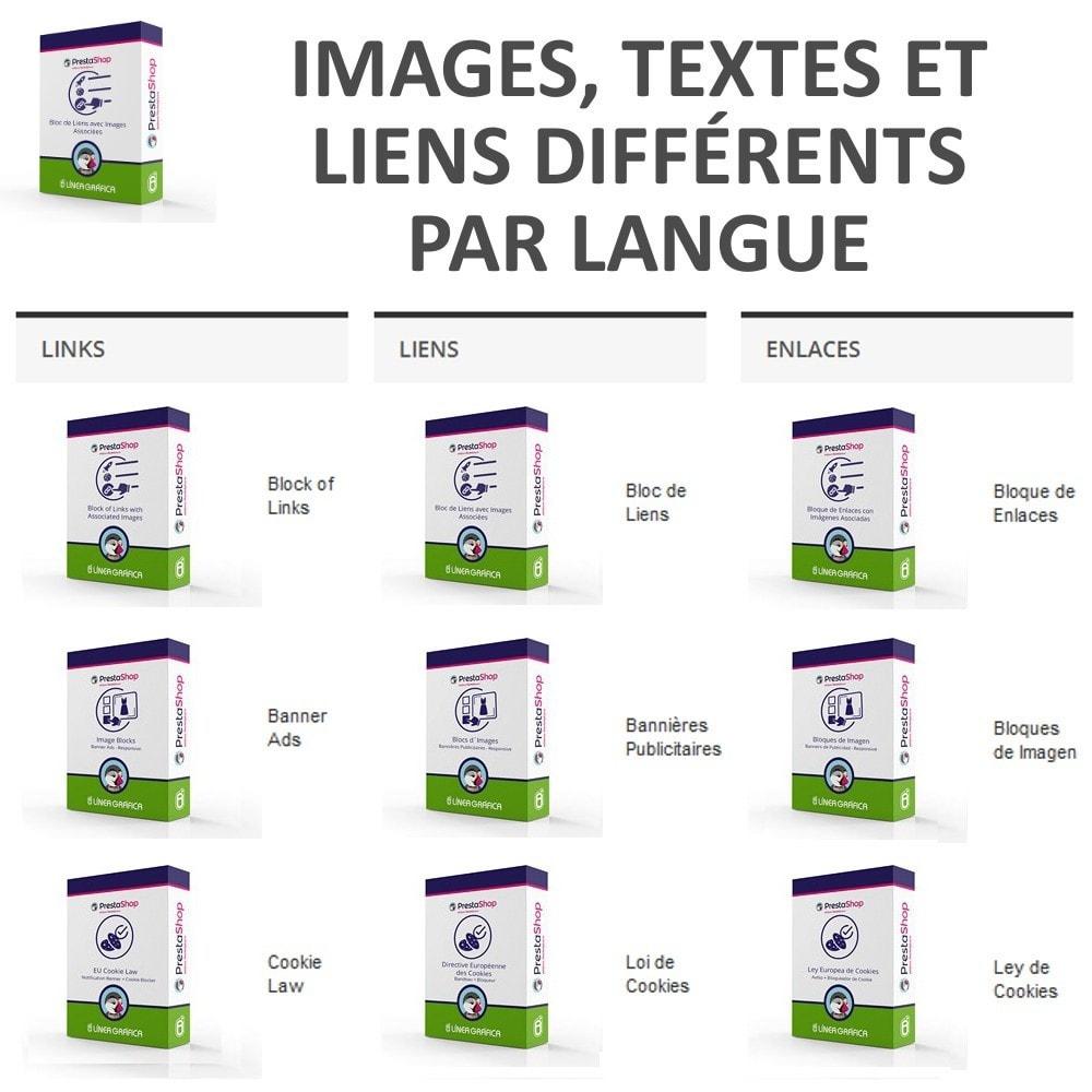module - Blocs, Onglets & Bannières - Bloc de Liens avec Images - 4