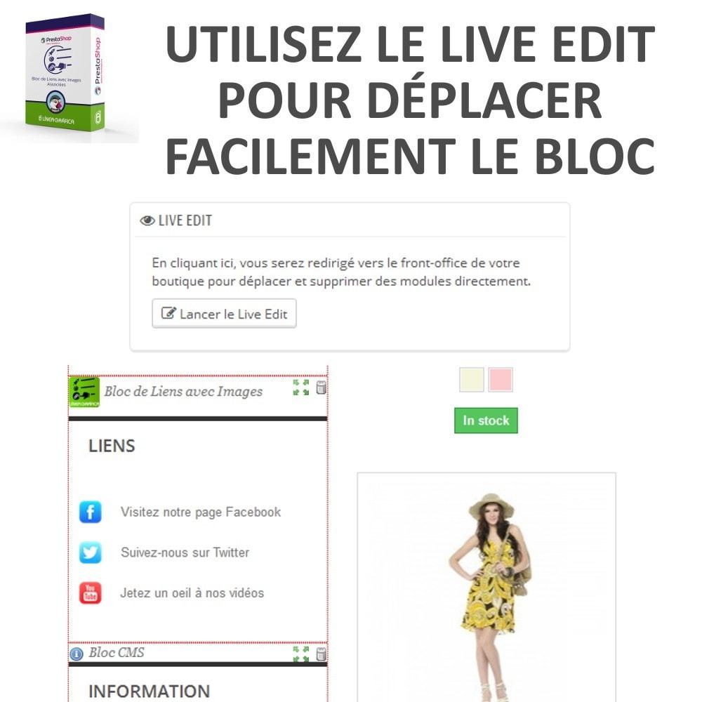module - Blocs, Onglets & Bannières - Bloc de Liens avec Images - 7