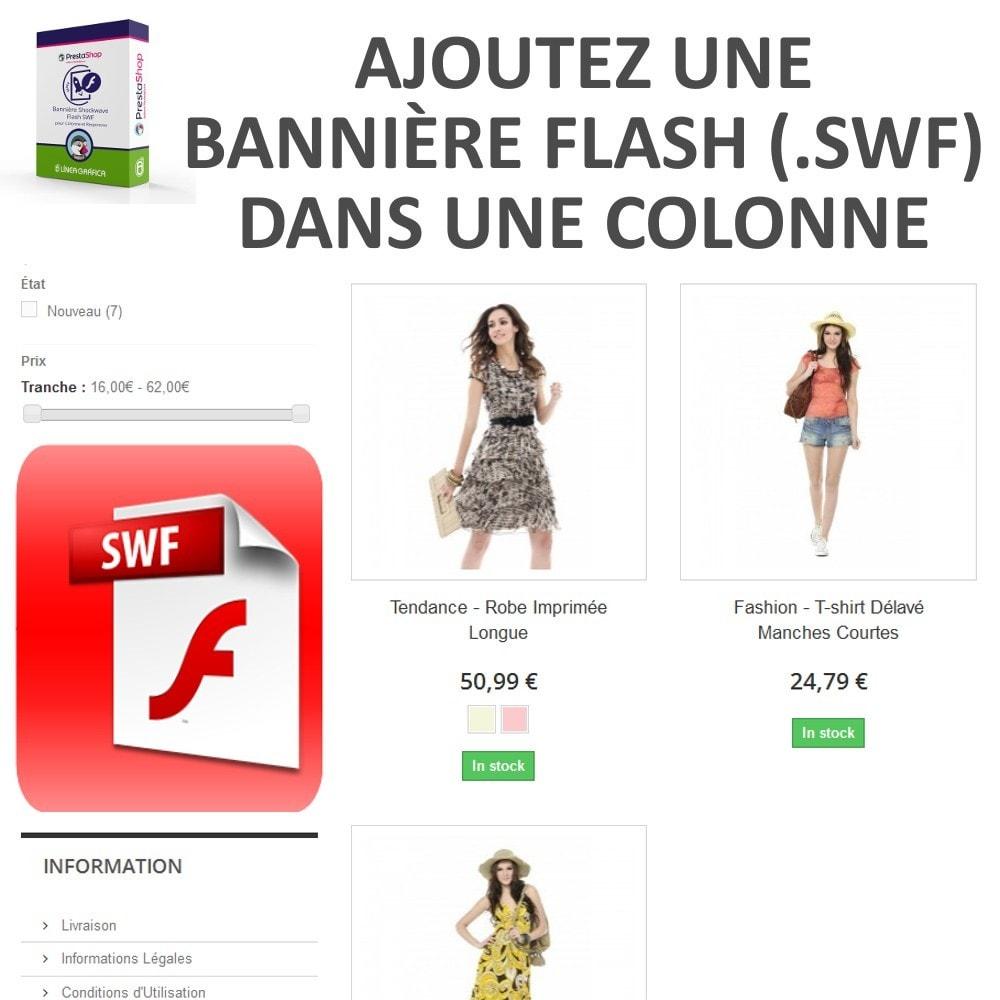 module - Blocs, Onglets & Bannières - Bannière Shockwave Flash SWF pour Colonne - 2